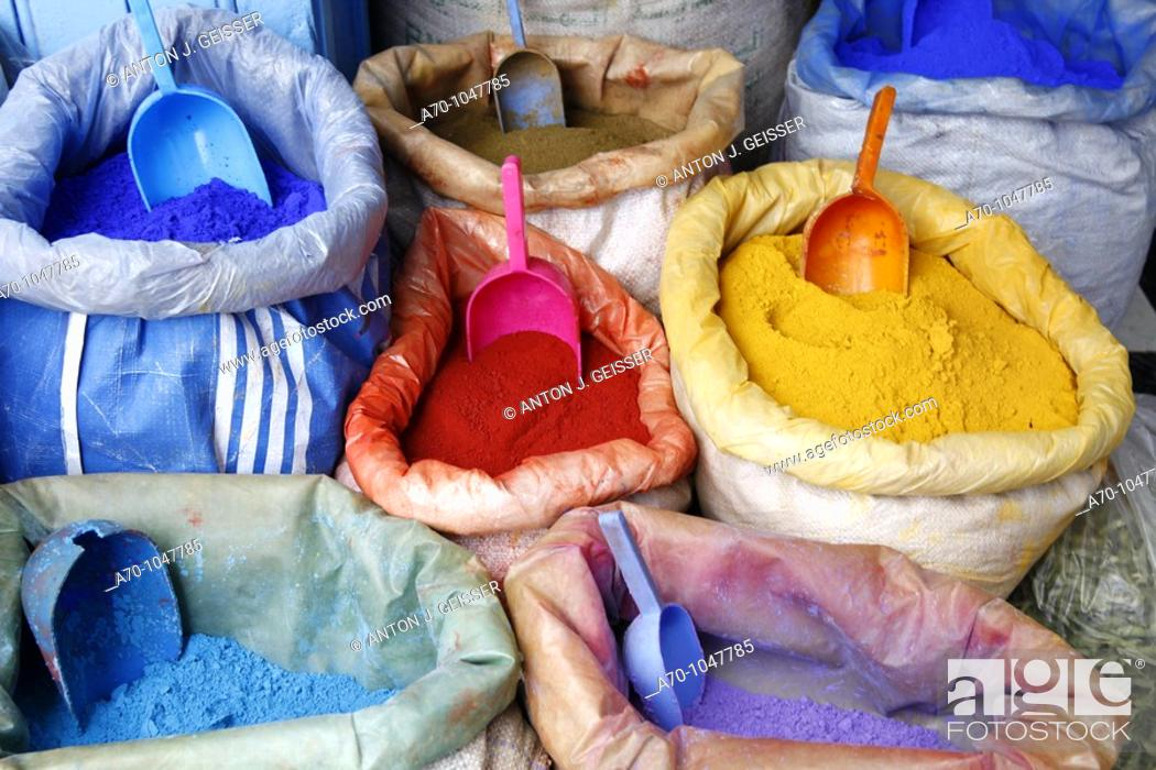 Stock Photo: Bags of powder paint for the Holi.
