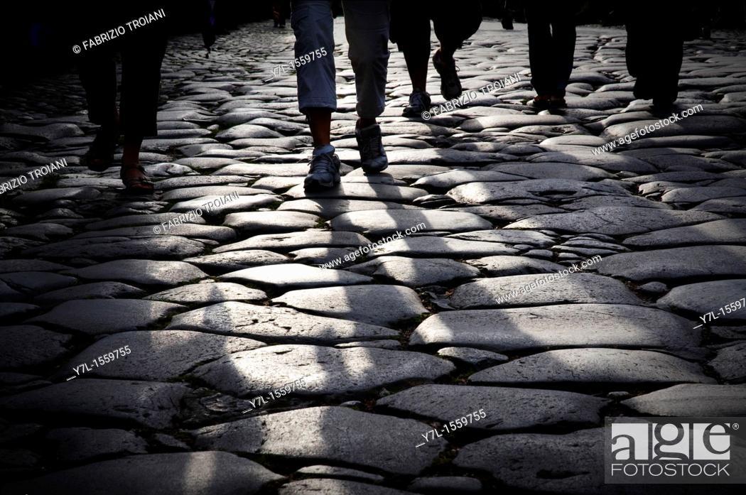 Stock Photo: Via Sacra, an ancient road near the Colosseum, Rome.