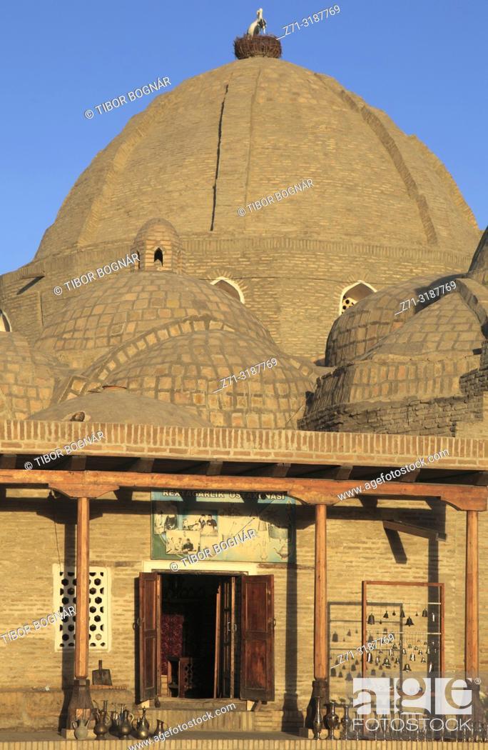 Stock Photo: Uzbekistan; Bukhara; Toki Zaragon, bazaar, dome,.