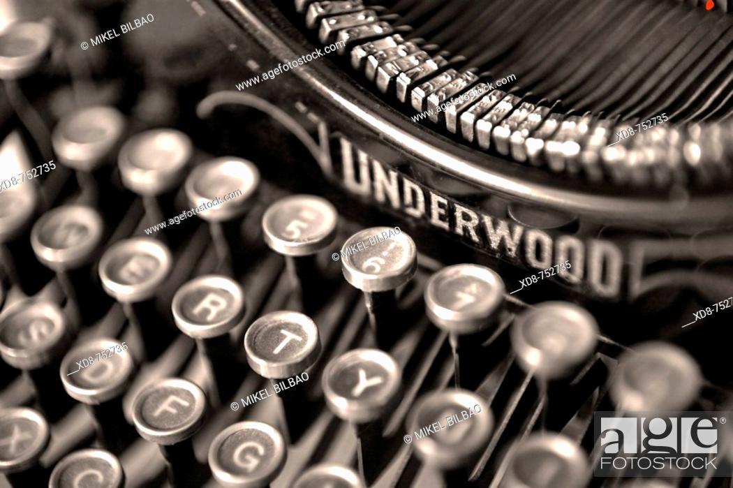 Stock Photo: typewriter detail.
