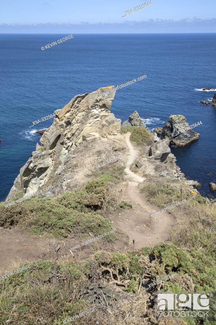 Stock Photo: Headland at Costa Xuncos; Loiba, Galicia; Spain.