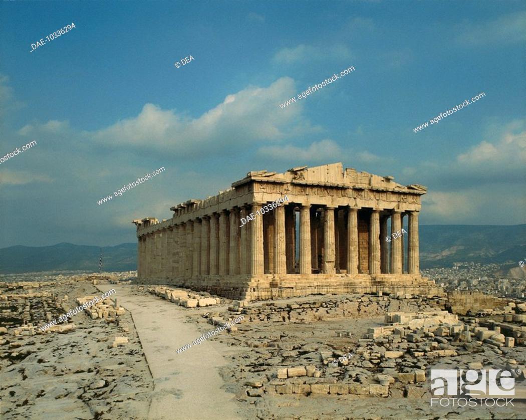 Stock Photo: The Parthenon, Acropolis of Athens (Unesco World Heritage List, 1987), Greece. Greek civilisation, 5th century BC.