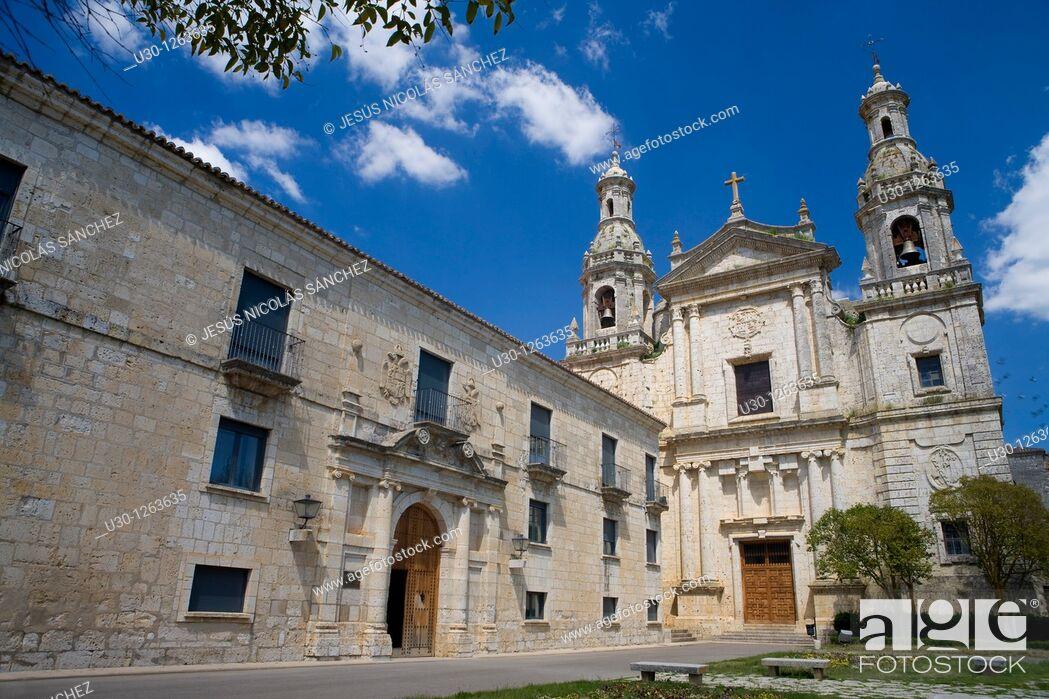 Stock Photo: Cistercian monastery of Santa María de la Santa Espina, built between XII Century and XVI Century, in Castromonte, Valladolid province.
