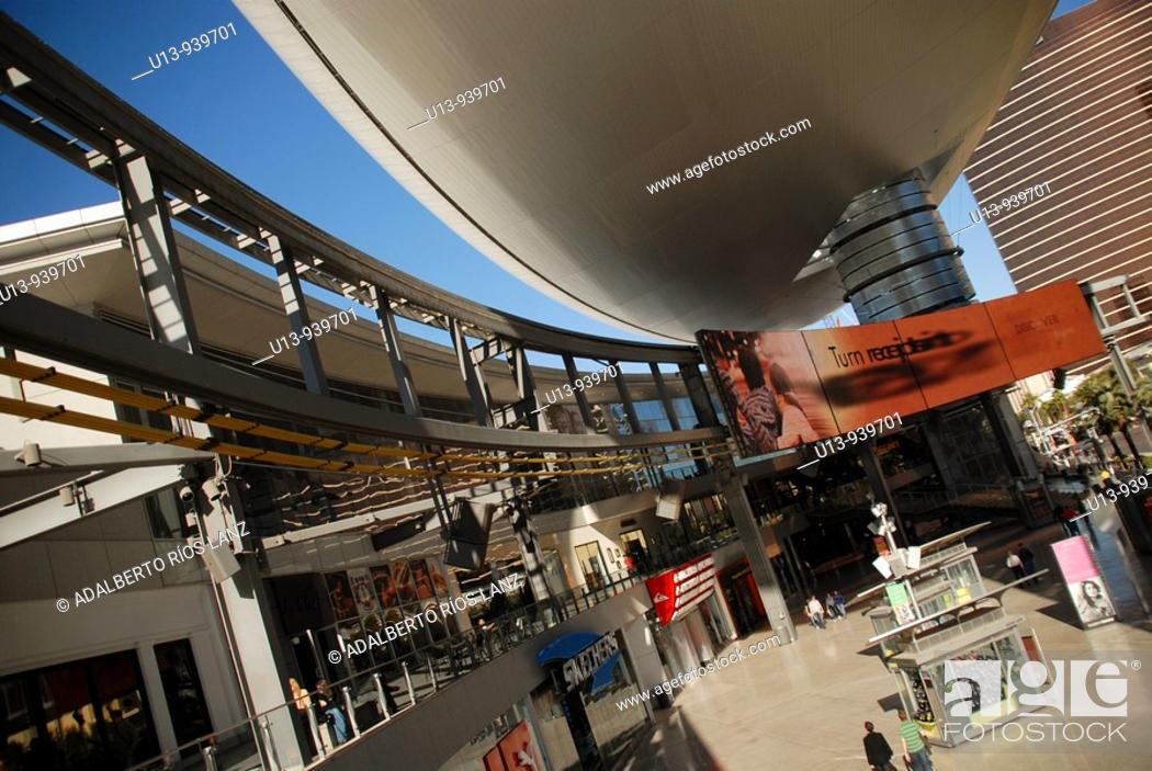 Stock Photo: The Fashion Show Mall at Las Vegas Strip.