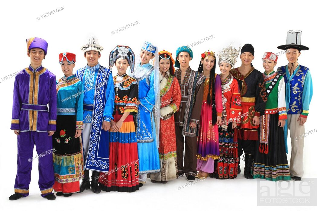 Stock Photo: Chinese people wearing traditional costumes.