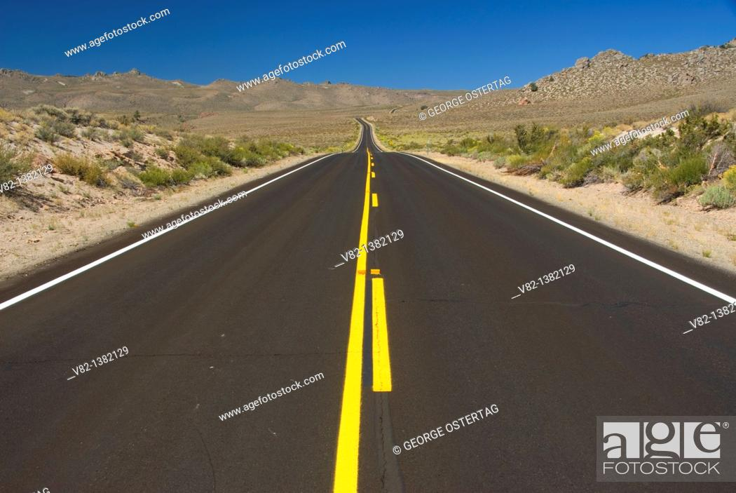 Stock Photo: CA State Highway 120, Bishop District Bureau of Land Management, CA.