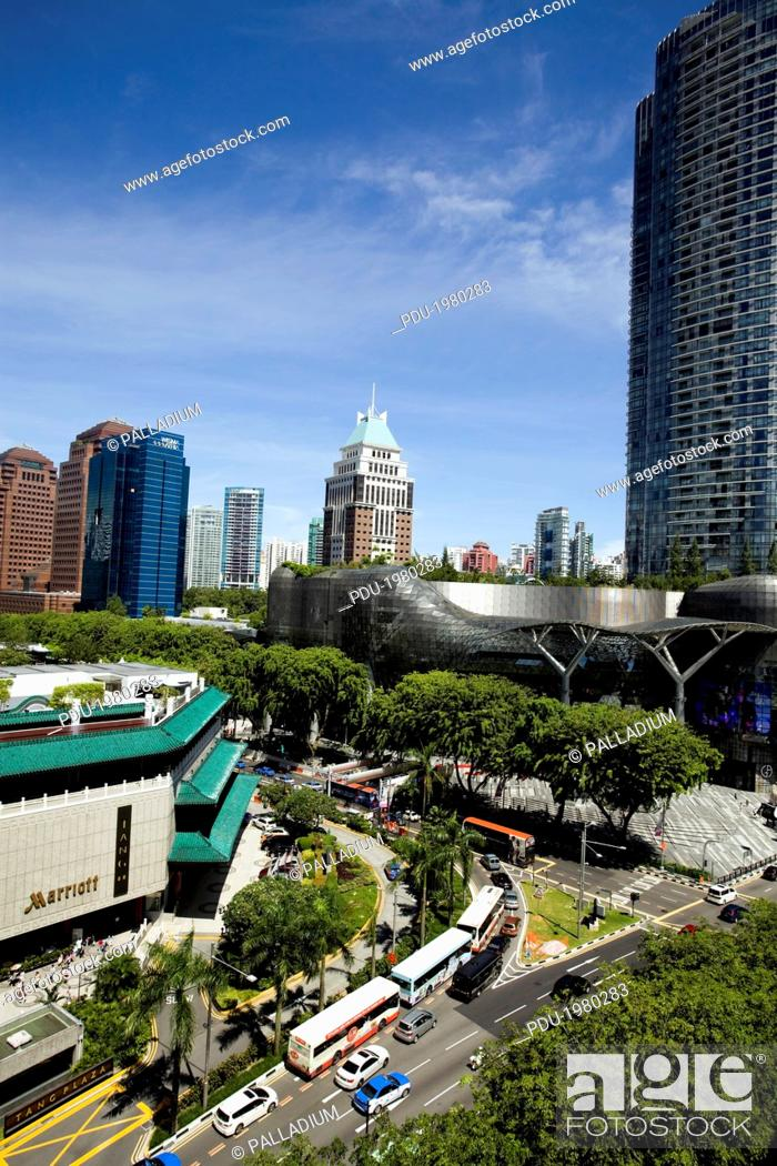 Stock Photo: Orchard Road, the luxury shopping district of Singapore City.