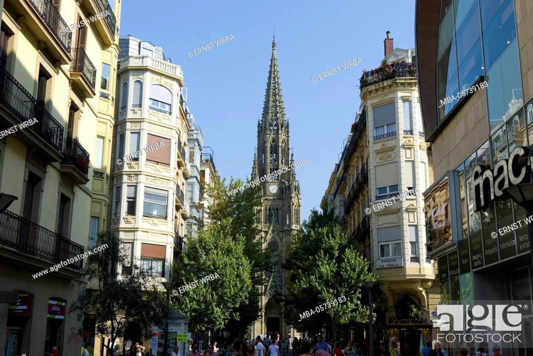 Stock Photo: Cathedral Buen pastor, Donostia-San Sebastián, Gipuzkoa, the Basque Provinces, Spain.