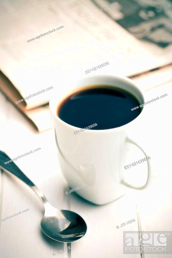 Stock Photo: morning coffee.