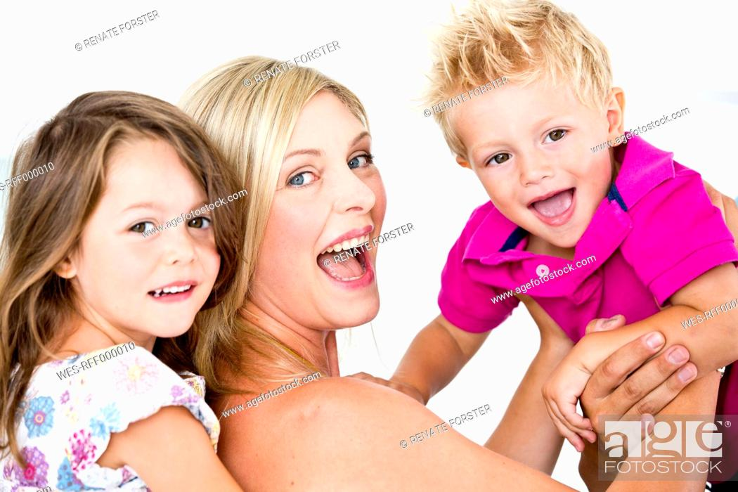 Stock Photo: Germany, Close up of playful family.