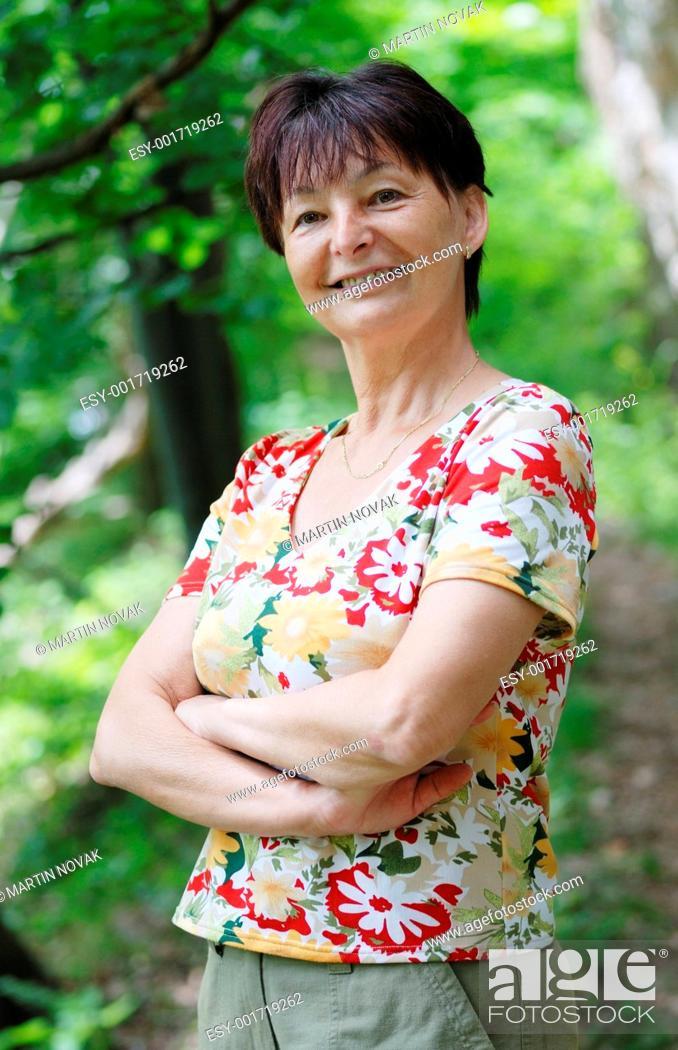Stock Photo: Portrait of senior woman.
