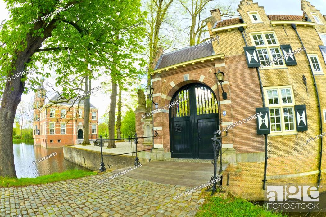 Stock Photo: Bouvigne Castle, Mastbos Forest, Breda, Noord-Brabant Province, Holland, Netherlands, Europe.