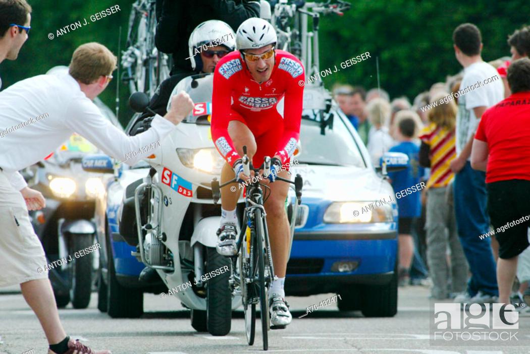 Stock Photo: Tour de Suisse, 2005: Fabian Cancellara (Fassa Bortolo team).