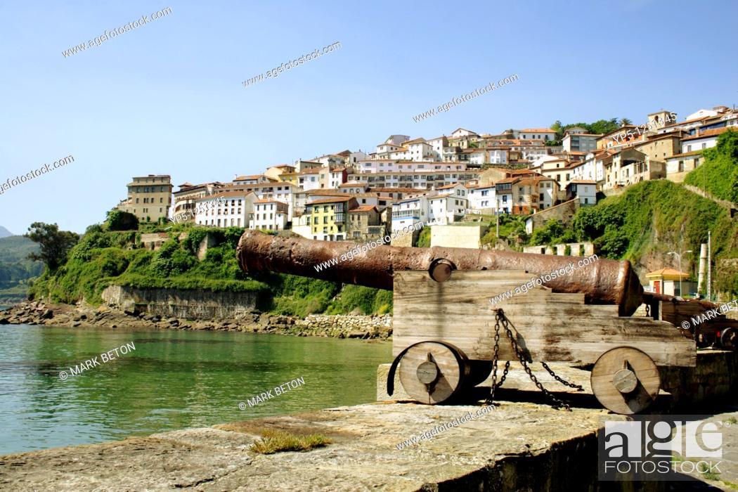 Stock Photo: Lastres fishing village Asturias Spain.
