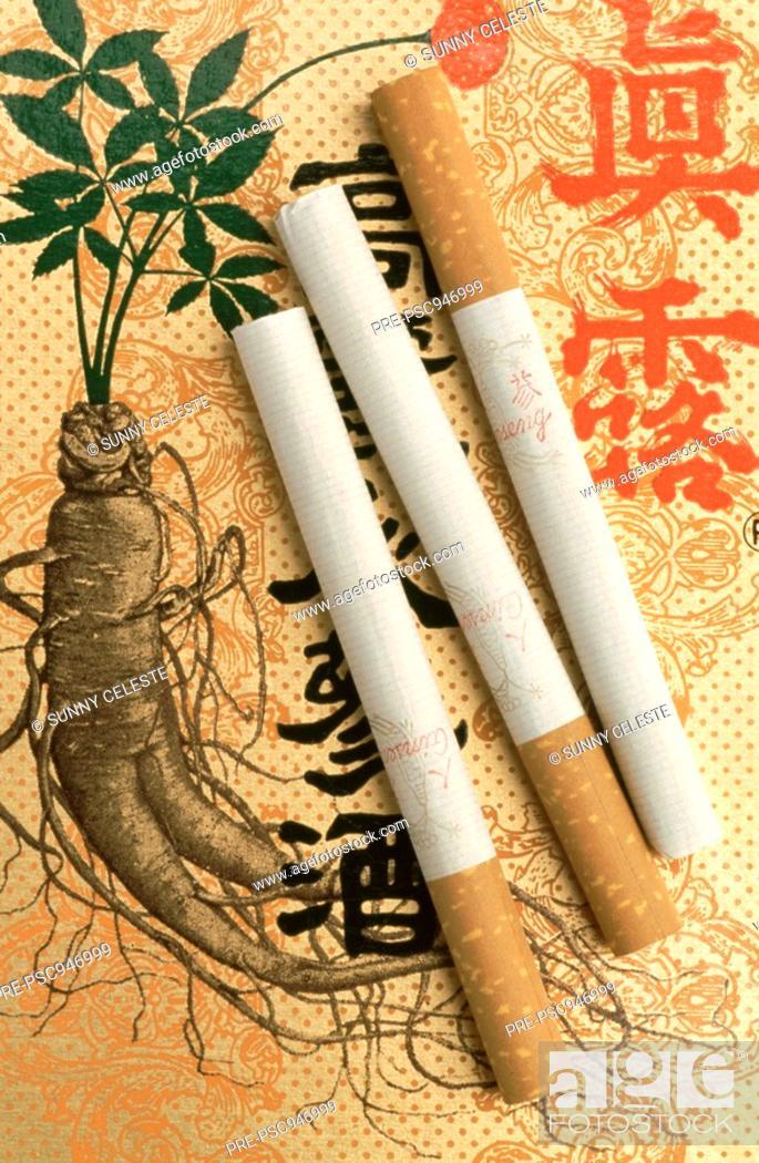 ginseng cigarettes for medicinal use, panax ginseng, from corea