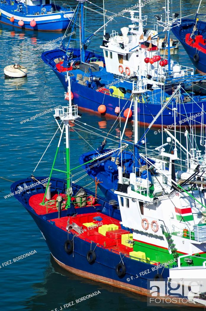 Stock Photo: Bermeo fishing port views  Biscay, Basque country, Spain  Europe.