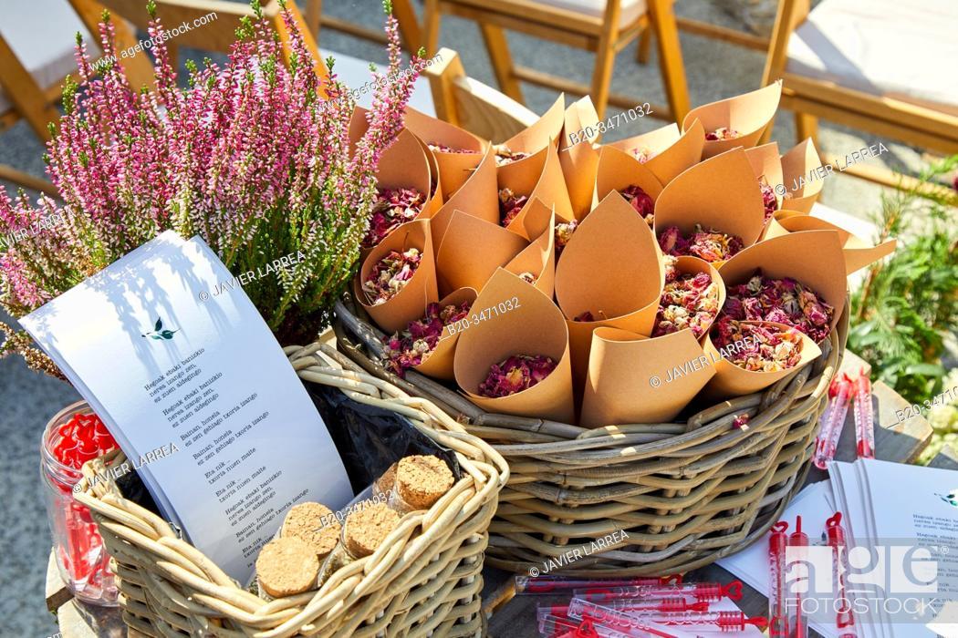 Imagen: Floral decoration, Event Celebration, Wedding, Hondarribia, Gipuzkoa, Spain.