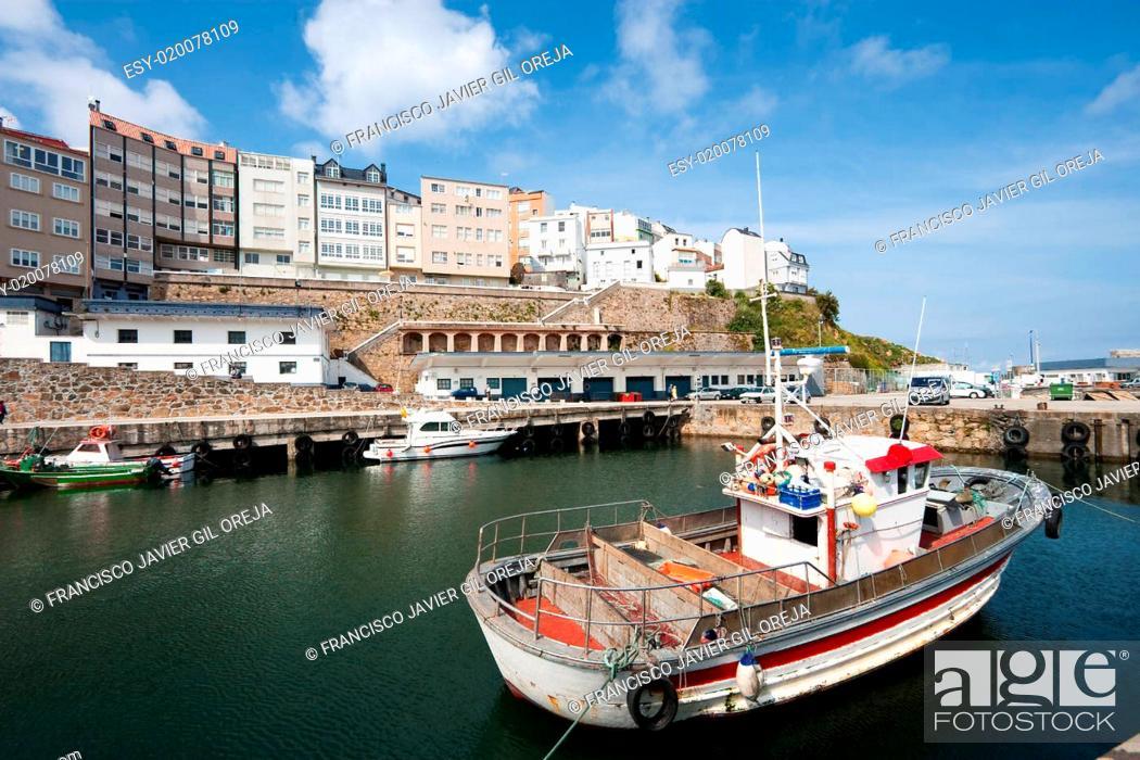 Stock Photo: Port of Malpica, La Coruña, Galicia, Spain.