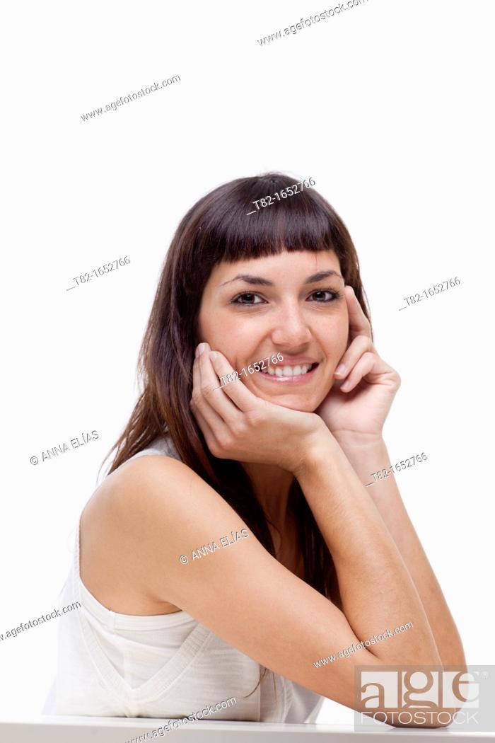 Stock Photo: Portrait of woman.