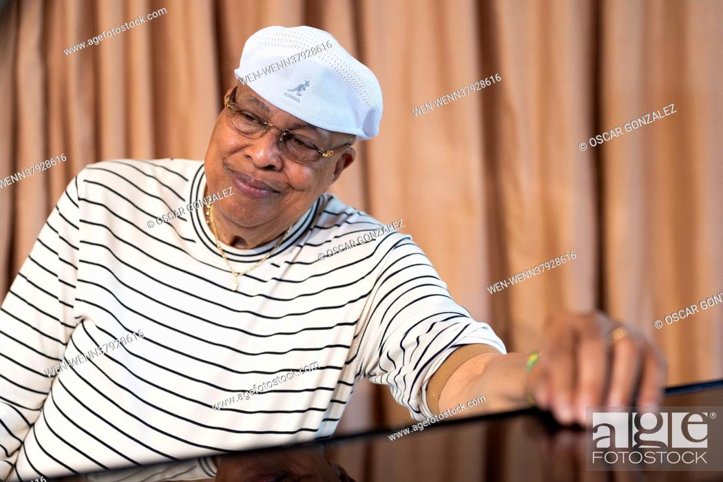 Photo de stock: Legendary Cuban musician Chucho Valdes poses during a portrait session in Madrid, Spain Featuring: Chucho Valdes Where: Madrid.