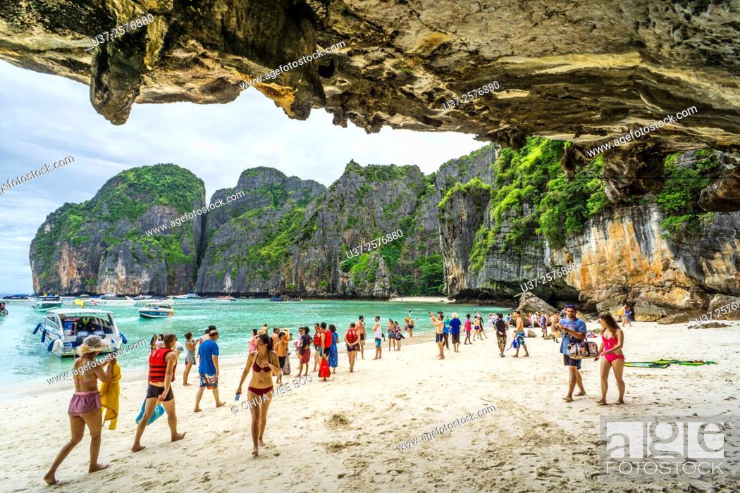 Stock Photo: Maya Beach, Krabi, Thailand.