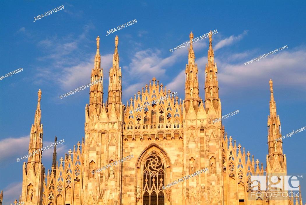 Photo de stock: Italy, Milan, cathedral, facade, detail,.