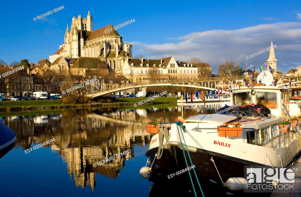 Stock Photo: Auxerre, Burgundy, France.