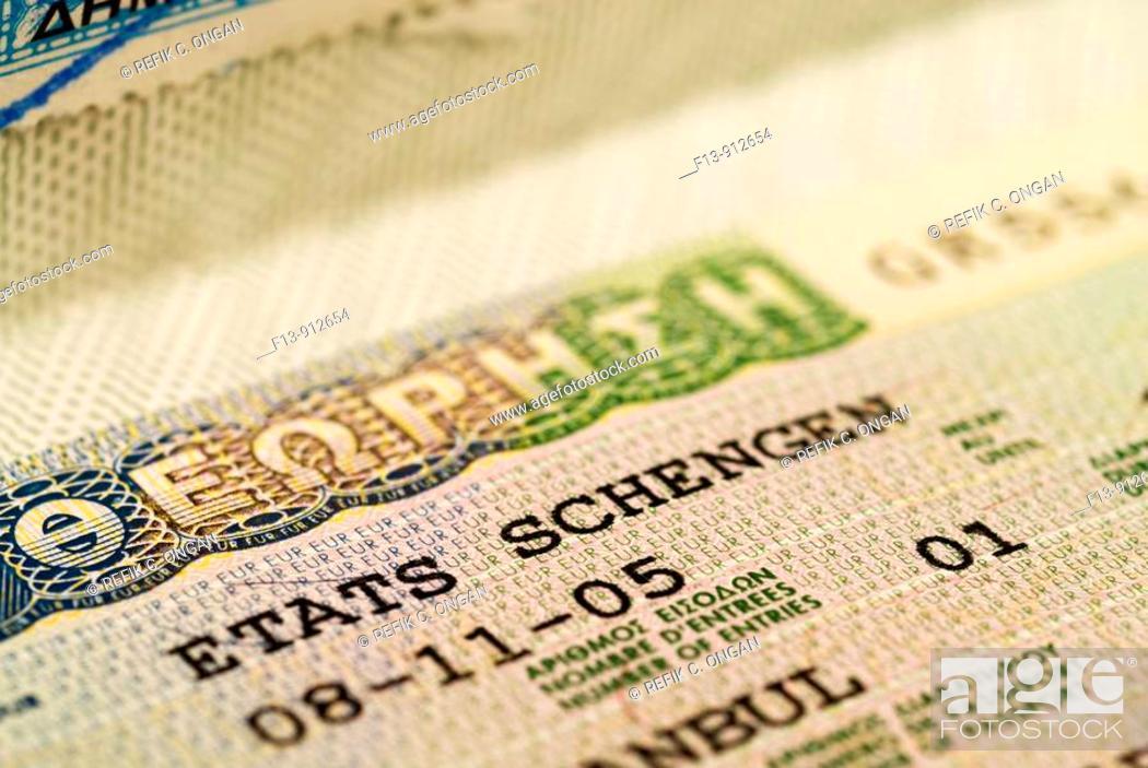 Stock Photo: schengen visa.