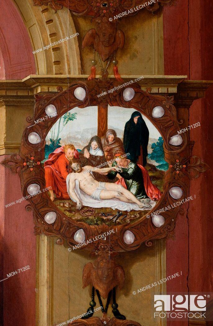 Imagen: Die St. Jakobuskirche Brügge. Gemälde Kreuzabnahme Christi.