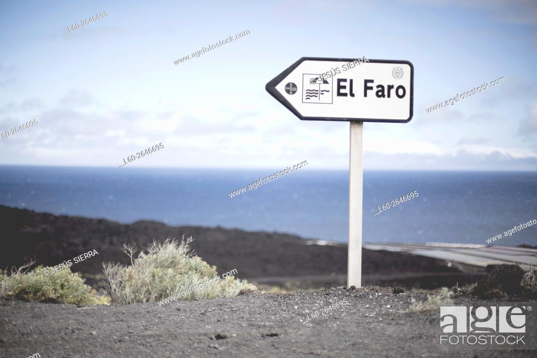 Stock Photo: El faro, Fuencaliente, la Palma, Canary islands, Spain.