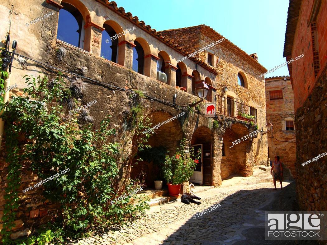 Stock Photo: Peratallada  Medieval town  Girona  Catalunya  Spain.