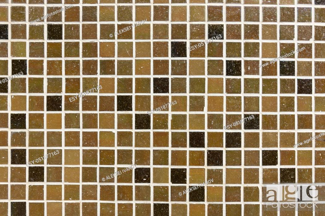 Stock Photo: Background - mosaic tiles in shades of brown tones.