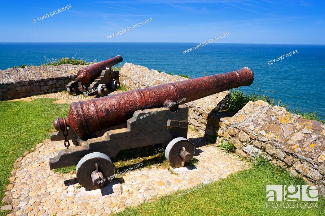 Stock Photo: Ribadesella la Guia canon in Asturias of Spain.