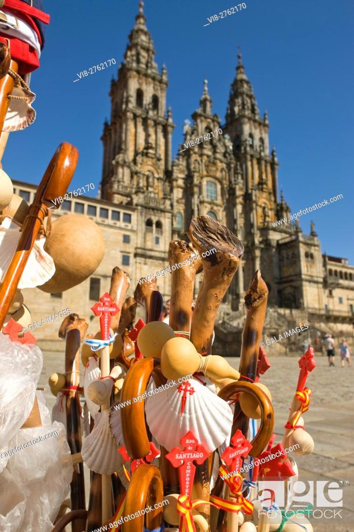 Imagen: CATHEDRAL OF SAINT JAMES PLAZA DEL OBRADOIRO OLD CITY SANTIAGO DE COMPOSTELA GALICIA SPAIN.