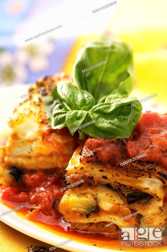 Stock Photo: Lasagna.