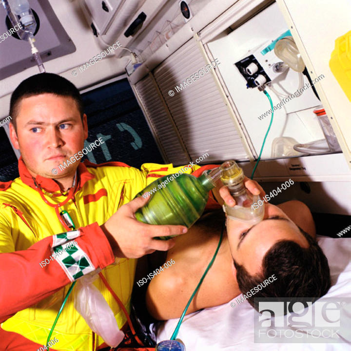 Stock Photo: Patient receiving oxygen.