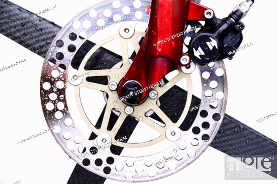 Stock Photo: brake disc.
