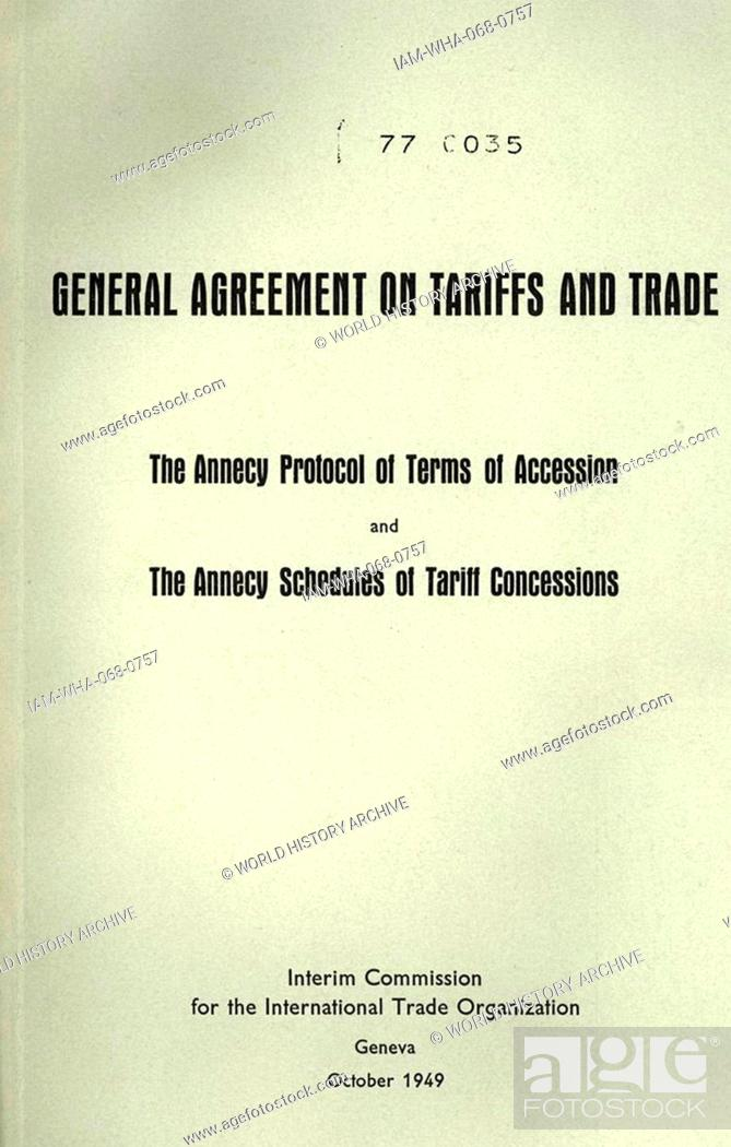 The Front Cover Of A 1949 Gatt Booklet The General Agreement On