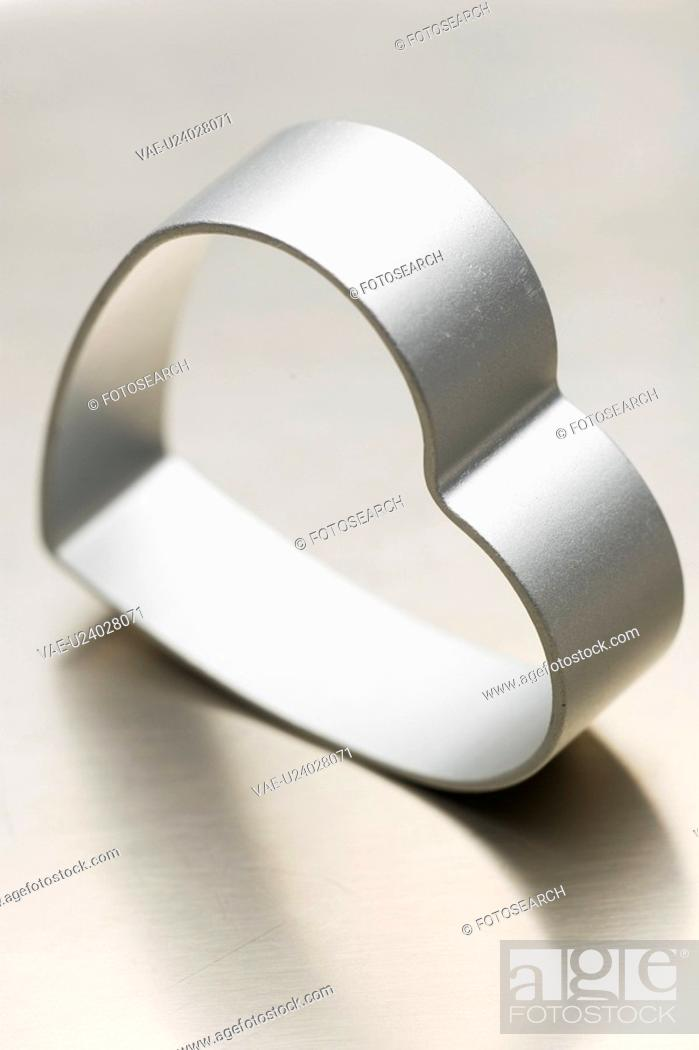Stock Photo: Heart Shape, Heart-Shaped, Indoors, Metallic, Mould.