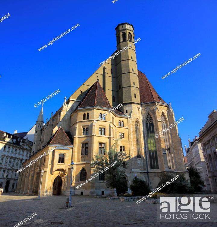 Stock Photo: Minoritenkirche (Minorities Church), (1350), Vienna, Austria.
