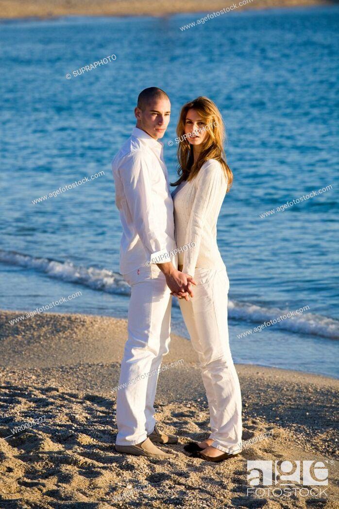 Stock Photo: Couple beach.