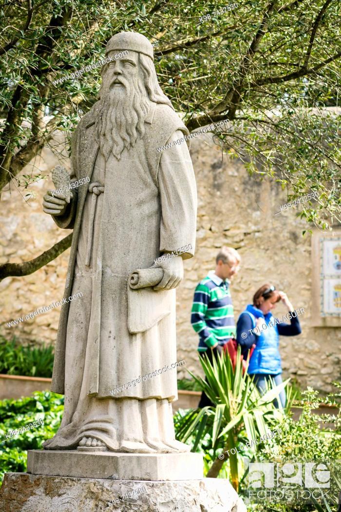 Escultura De Ramon Llull En El Jardin Santuario De Cura En La Cima - Escultura-jardin