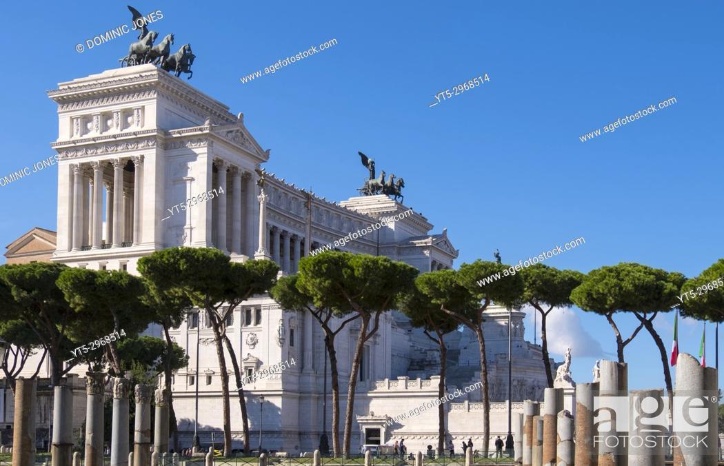 Stock Photo: Monumento a Vittorio Emanuele II , Rome, Italy, Europe.
