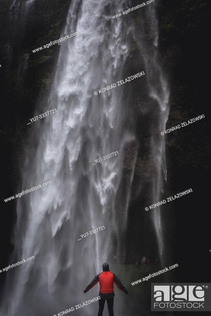Stock Photo: Seljalandsfoss waterfall in South Region of Iceland.