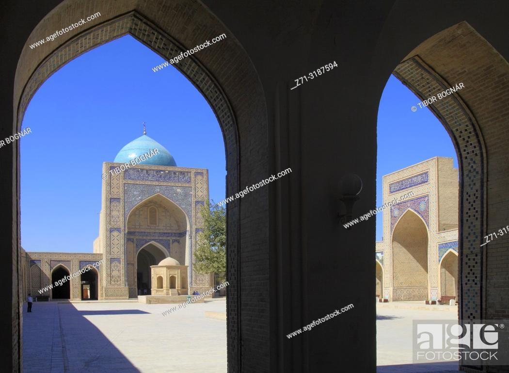 Stock Photo: Uzbekistan; Bukhara; Kalon Mosque;.