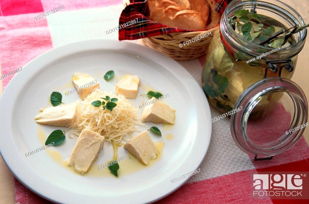 Stock Photo: Cheese Plate Near Bread.