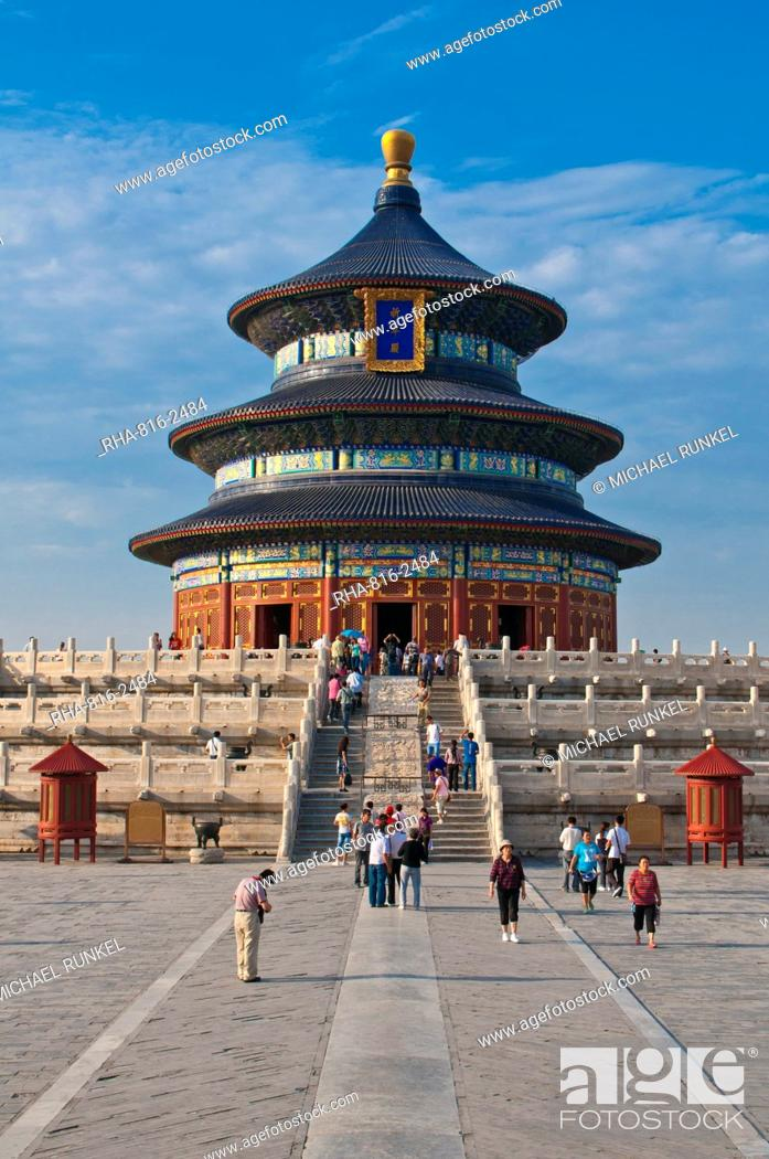 Stock Photo: The Temple of Heaven, UNESCO World Heritage Site, Bejing, China, Asia.