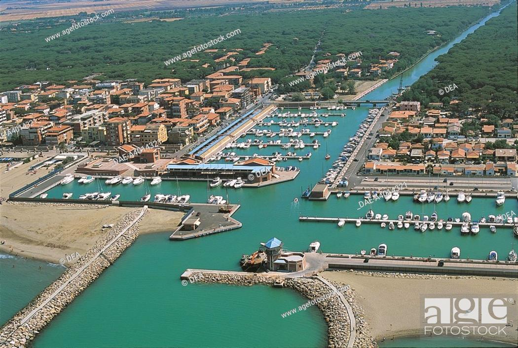 Stock Photo: Italy - Tuscany Region - Marina di Grosseto - Aerial view.
