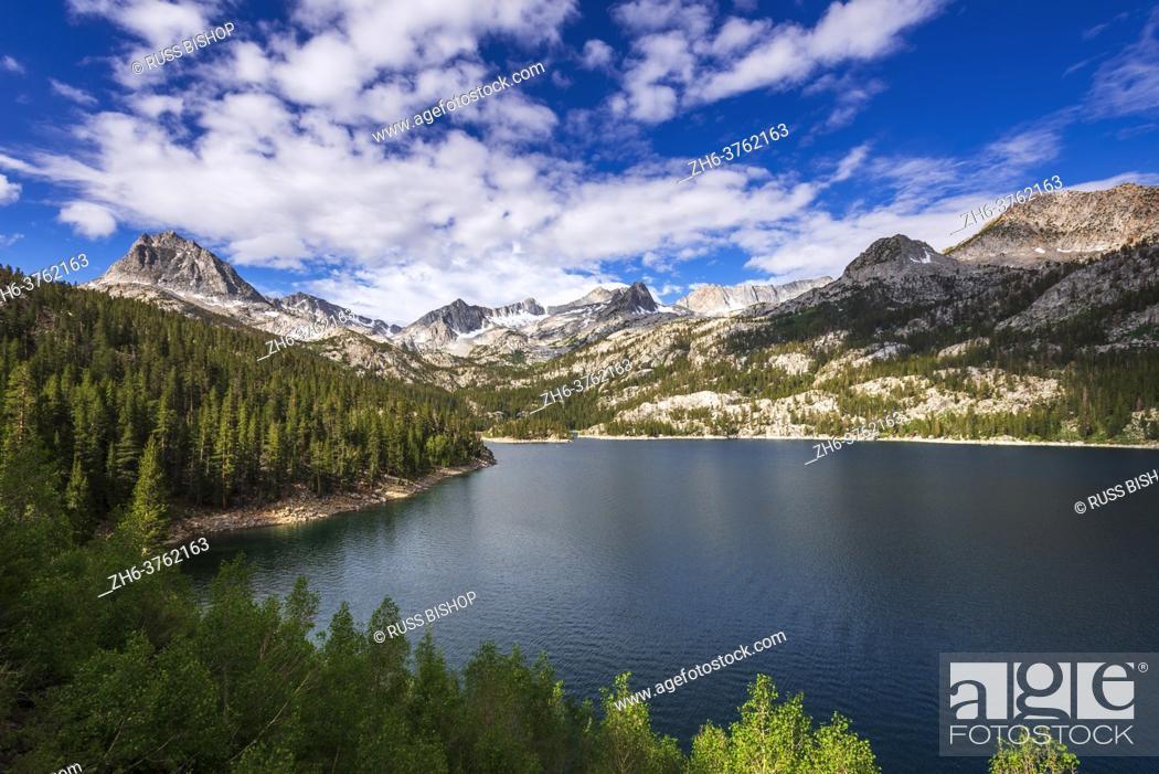 Stock Photo: South Lake, John Muir Wilderness, Sierra Nevada Mountains, California USA.