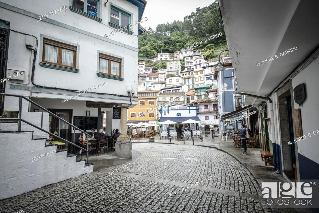 Stock Photo: Cudillero, small and beautiful fishing village in Asturias, Spain.
